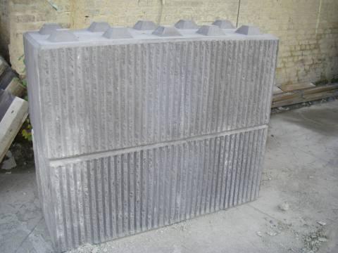 Blocs empilables en béton