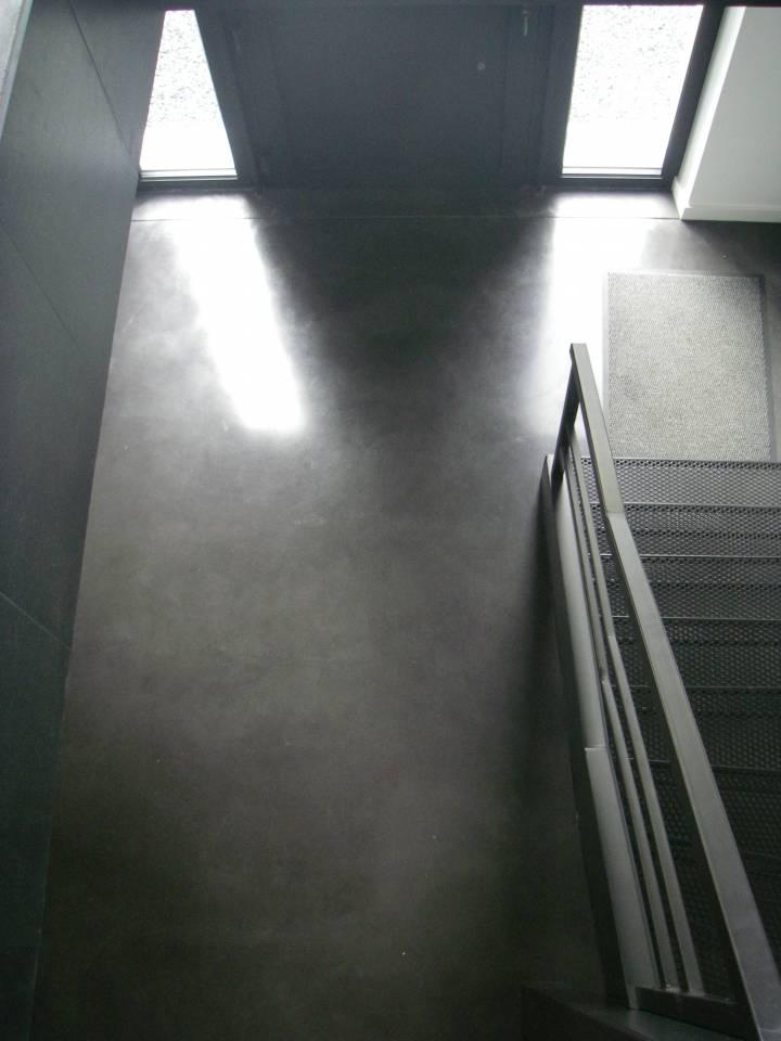 Dalles de sol de maison en béton lissé à l'Écran Total