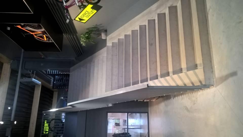 Escaliers intérieurs en béton préfabriqué